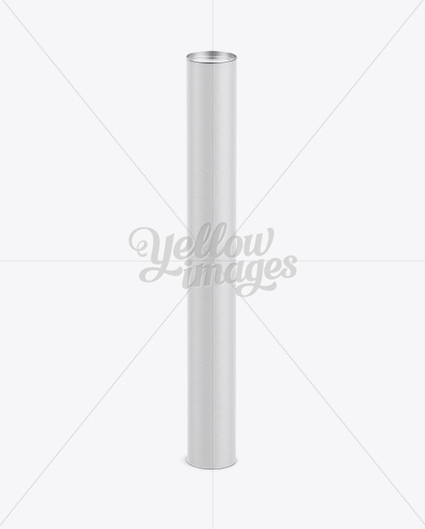 Extra Long Paper Tube w/ a Flat Lid - High-Angle View