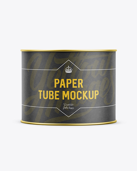 Small Paper Tube - Front View