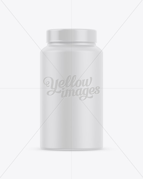 Nutritional Supplement Bottle With Chrome Finish Mockup High Angle Shot In Bottle Mockups On Yellow Images Object Mockups