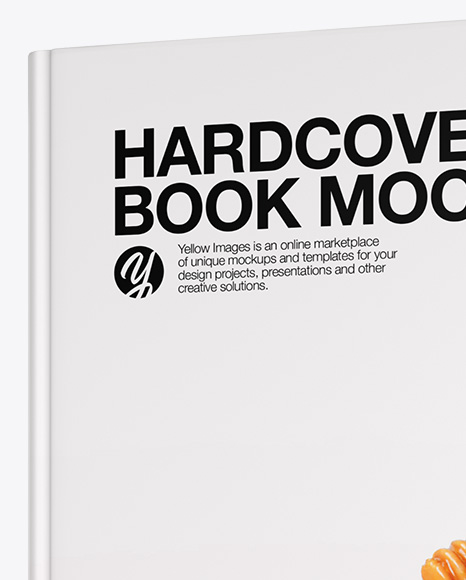 Download Hardcover Book Mockup Half Side View In Stationery Mockups On Yellow Images Object Mockups PSD Mockup Templates