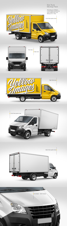 Box Truck Mockup Pack