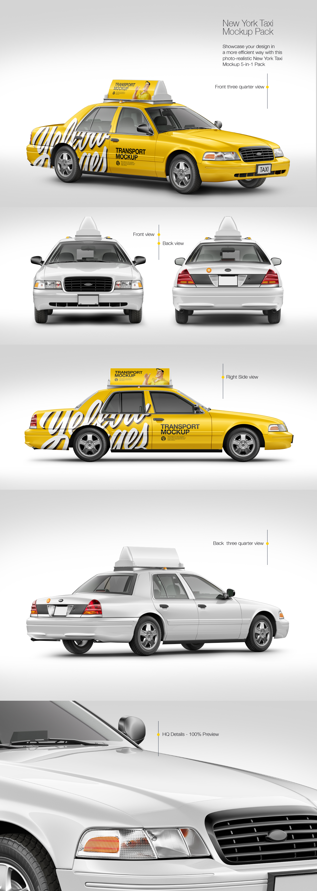 New York Taxi Mockup Pack