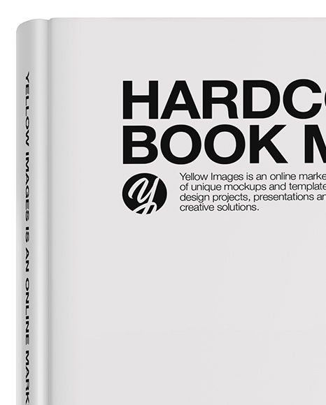 Download Hardcover Book Mockup Front View In Stationery Mockups On Yellow Images Object Mockups Yellowimages Mockups