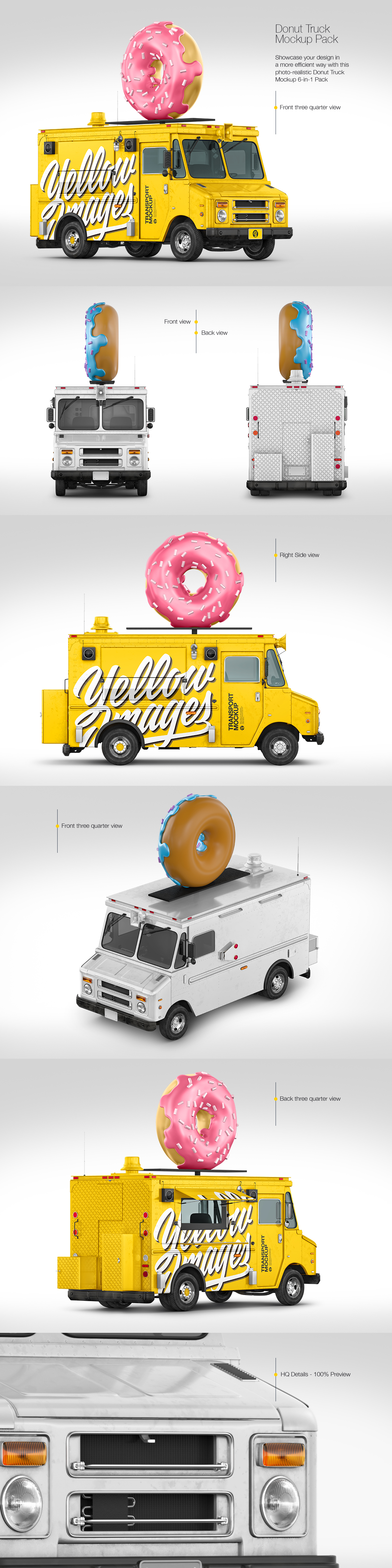 Foodtruck with Donut Mockup Pack