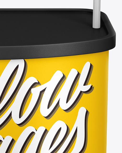 Stand Mockup In Indoor Advertising Mockups On Yellow Images Object