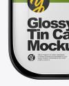 Glossy Tin Can Mockup