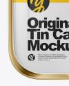 Metallic Tin Can Mockup