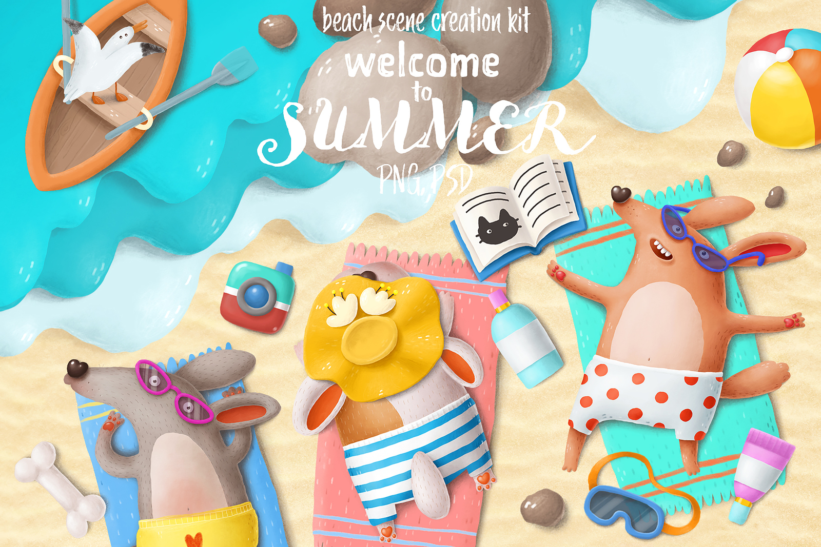 Beach scene creation kit