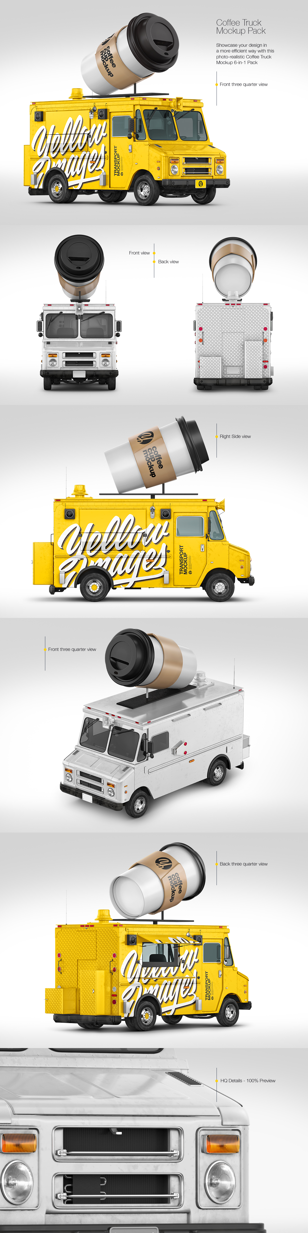 Foodtruck with Coffee Cup Pack