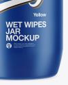 Matte Wet Wipes Jar Mockup