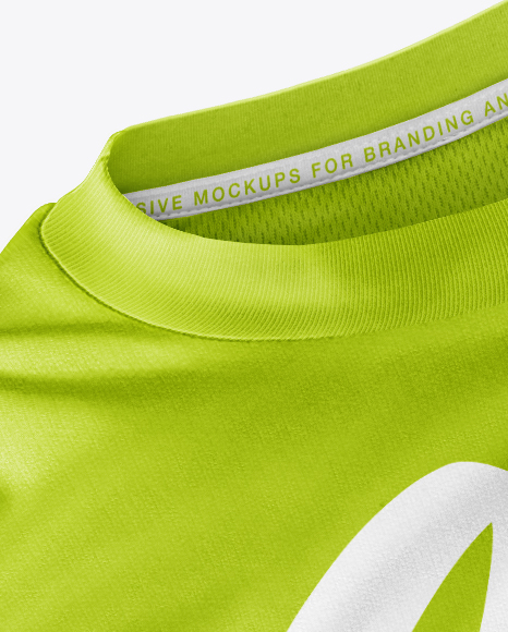 Download Mens Jersey With Eyelet Mesh Fabric Mockup Yellow Images