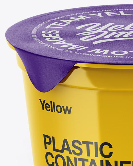 Glossy Plastic Cups Mockup