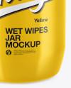 Glossy Wet Wipes Jar Mockup