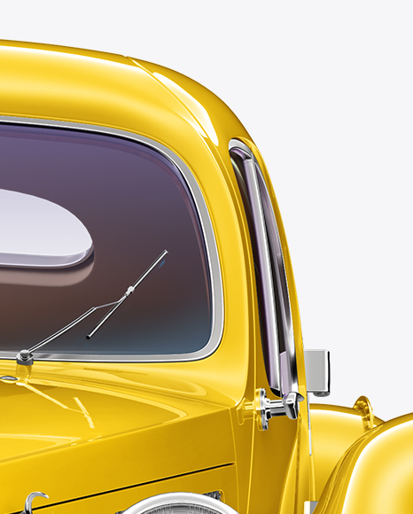 Retro Car Mockup - Front View
