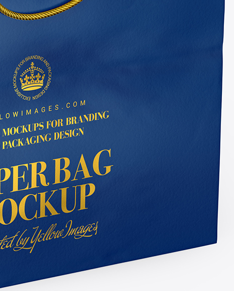 Square Matte Paper Bag Mockup