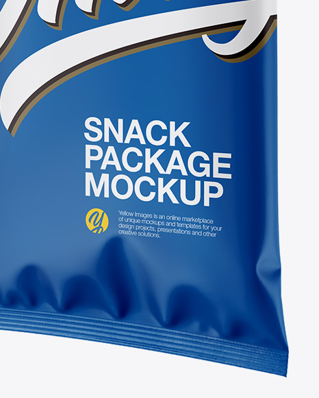 Download Matte Snack Package Mockup Half Side View PSD - Free PSD Mockup Templates