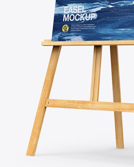 Easel Mockup - Half Side View