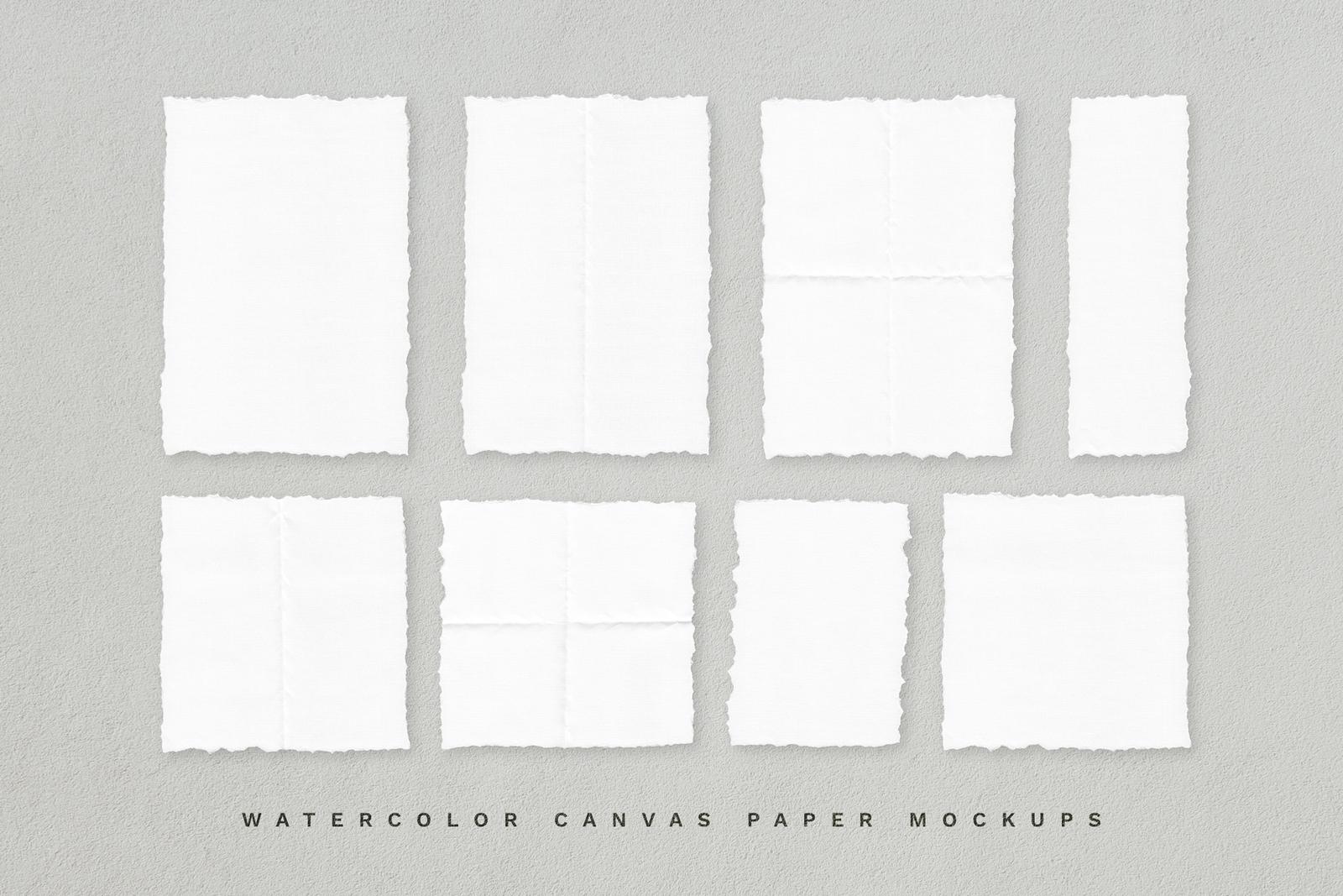 Deckle Edge Paper Mockup Set