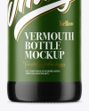 Green Glass Vermouth Bottle Mockup
