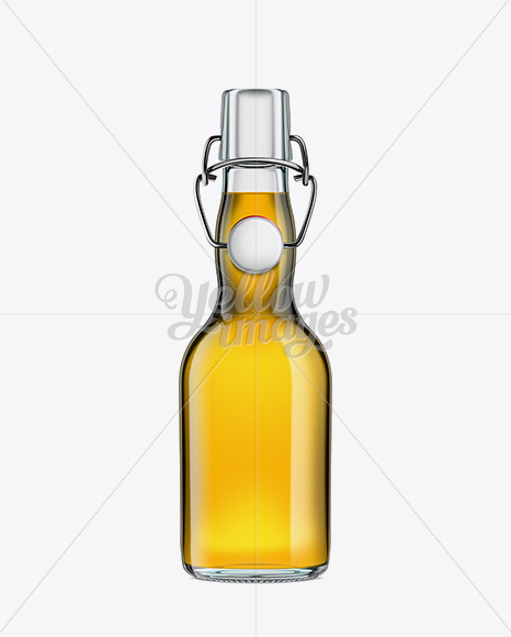Glass Bottle with Gold Beer and Swing Top Closure 330ml