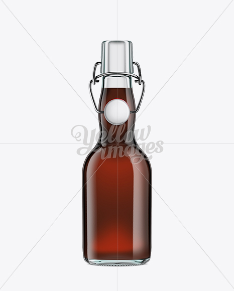 Glass Bottle with Brown Ale and Swing Top Closure 330ml