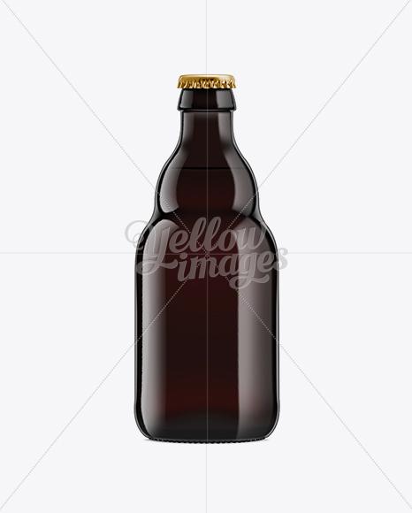 Black Amber Bottle with Dark Beer 330ml