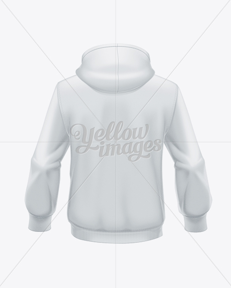 Download Mens Pullover Hoodie Back View Of Hooded Sweatshirt Yellow Images