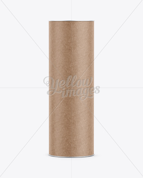 Long Kraft Paper Tube w/ a Paper Label - Front View