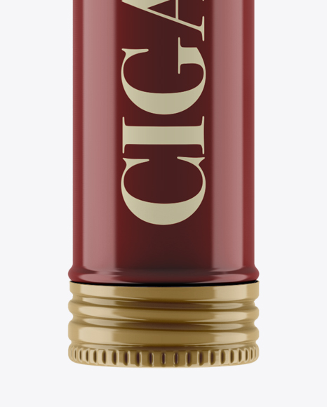 Glossy Cigar Tube Mockup