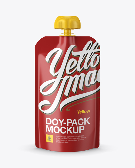 Matte Doy-Pack Mockup - Front View
