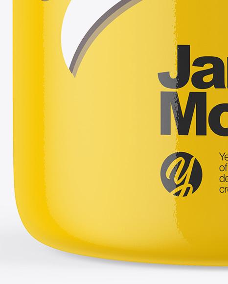 Glossy Jar With Cork Mockup