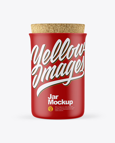 Matte Jar With Cork Mockup