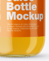 Clear Glass Bottle With Orange Juice Mockup