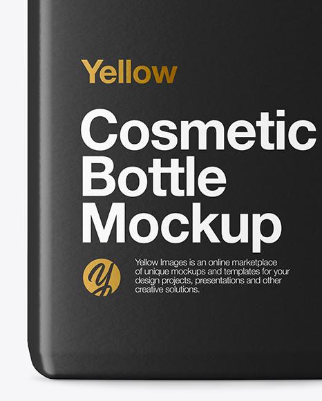 Plastic Cosmetic Bottle Mockup