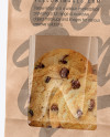 Kraft Bag with Cookie Mockup