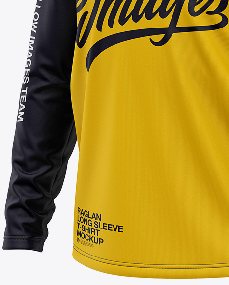 Download Long Sleeve Jersey Mockup Half Side View Yellowimages