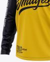Men's Raglan Long Sleeve T-Shirt Mockup - Front Half Side View
