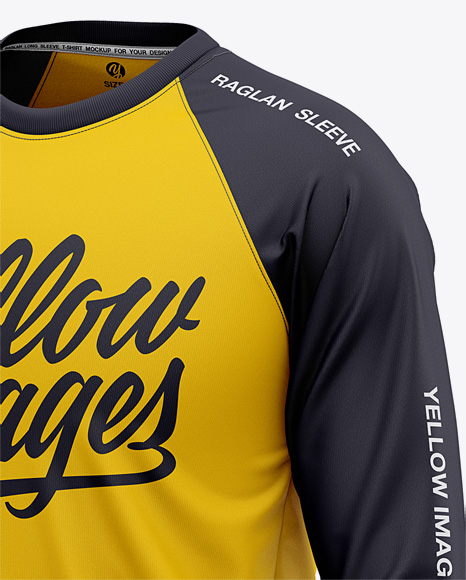 Download Mens Cycling Jersey With Long Sleeve Mockup Front View Yellowimages