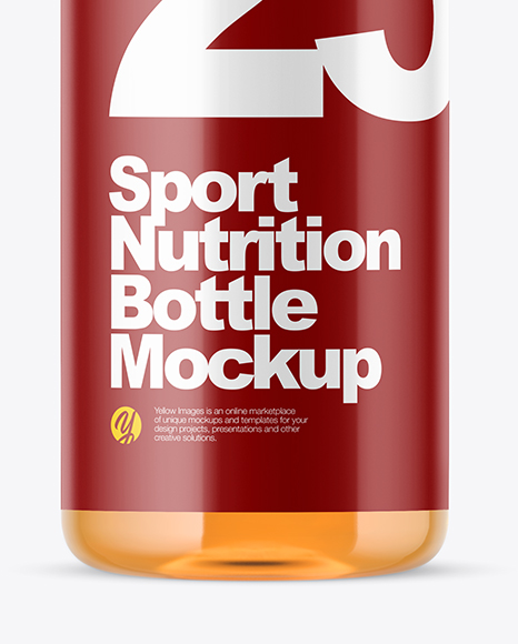 Plastic Sport Nutrition Bottle Mockup