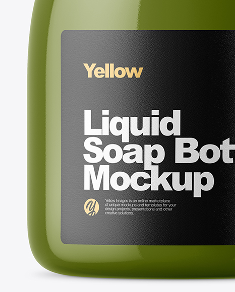 Glossy Liquid Soap Bottle Mockup