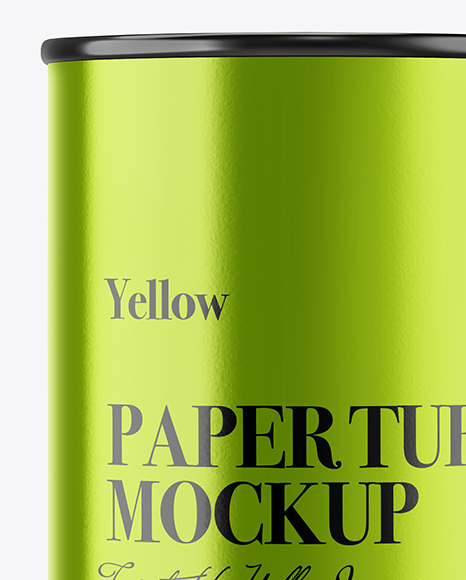 Metallized Paper Tube Mockup