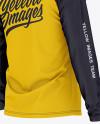 Men's Raglan Long Sleeve T-Shirt Mockup - Back Half Side View