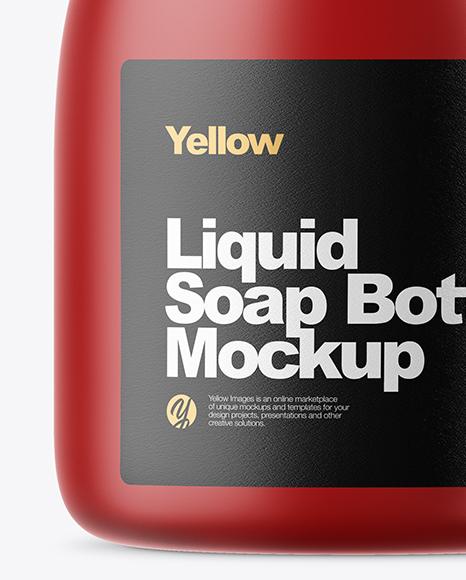 Matte Liquid Soap Bottle Mockup