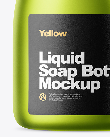 Matte Metallic Liquid Soap Bottle Mockup