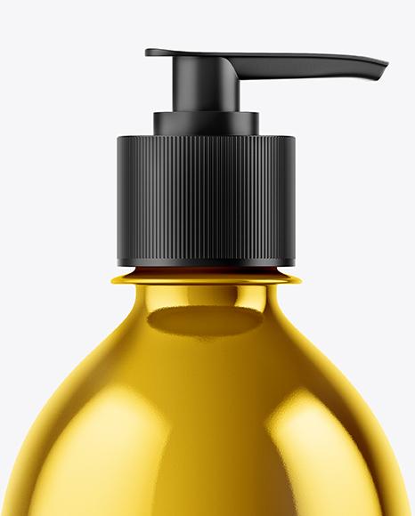 Metallic Liquid Soap Bottle Mockup