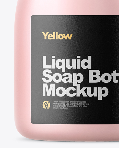 Clear Frosted Liquid Soap Bottle Mockup