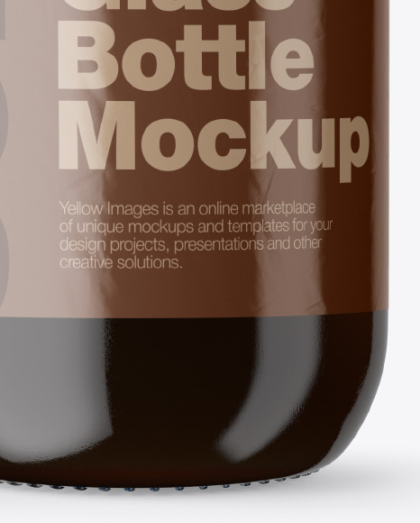 Clear Glass Bottle With Cold Brew Americano Mockup