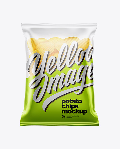 Clear Bag With Corrugated Potato Chips Mockup