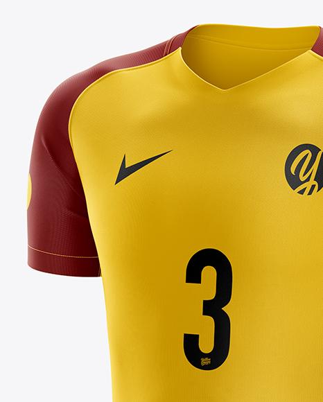 Men's Soccer Kit mockup (Half Side View)
