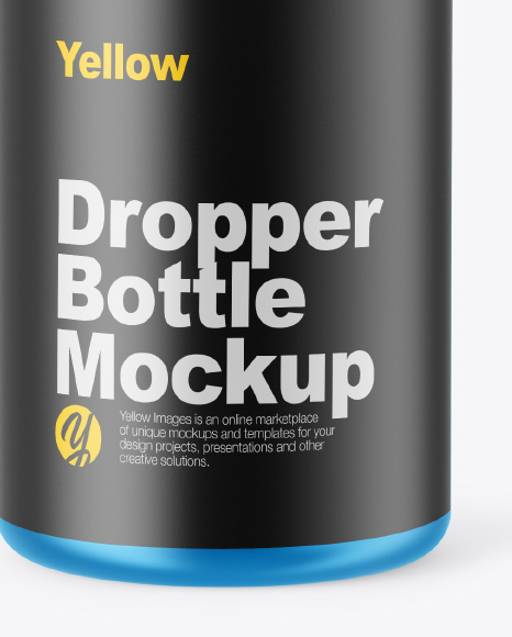 Metallic Dropper Bottle Mockup